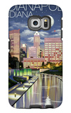 Indianapolis, Indiana - Indianapolis at Night Galaxy S6 Edge Case by  Lantern Press