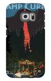 Firefall and Camp Curry - Yosemite National Park, California Galaxy S6 Edge Case by  Lantern Press