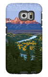 Grand Teton National Park - Snake River Overlook Galaxy S6 Edge Case by  Lantern Press