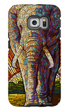 Elephant - Paper Mosaic Galaxy S6 Edge Case by  Lantern Press