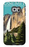 Yosemite Falls - Yosemite National Park, California Galaxy S6 Edge Case by  Lantern Press