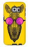 Zebra in Pink Glasses Galaxy S6 Edge Case by Lisa Kroll