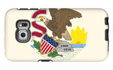Illinois State Flag Galaxy S6 Edge Case by  Lantern Press