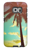 Retro Styled Hawaiian Palm Tree Galaxy S6 Edge Case by Mr Doomits