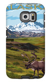 Denali National Park, Alaska - Caribou and Stoney Overlook Galaxy S6 Edge Case by  Lantern Press