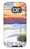 White Sands National Monument, New Mexico - Sunset Scene Galaxy S6 Edge Case by  Lantern Press