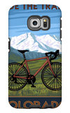 Mountain Bike - Colorado Galaxy S6 Edge Case by  Lantern Press