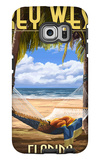 Key West, Florida - Hammock Scene Galaxy S6 Edge Case by  Lantern Press
