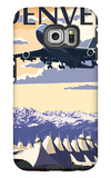 Denver, Colorado - Airport View Galaxy S6 Edge Case by  Lantern Press