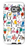 Cute Alphabet with Illustrations Galaxy S6 Edge Case