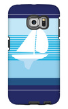Navy Sail Galaxy S6 Edge Case by  Avalisa