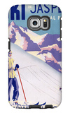 Jasper National Park, Canada - Woman Posing Open Slopes Poster Galaxy S6 Edge Case by  Lantern Press