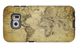 Vintage Map of the World, 1814 Galaxy S6 Edge Case by  javarman