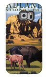 Badlands National Park, South Dakota - Bison Scene Galaxy S6 Edge Case by  Lantern Press