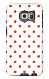 Red Polk-a-dots Galaxy S6 Edge Case by  Avalisa