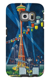 Space Needle Worlds Fair Poster - Seattle, WA Galaxy S6 Edge Case by  Lantern Press