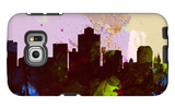 Salt Lake City Skyline Galaxy S6 Edge Case by  NaxArt