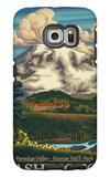 Paradise Inn, Mt. Rainier National Park, Washington Galaxy S6 Edge Case by  Lantern Press