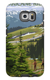 Hurricane Ridge, Olympic National Park, Washington Galaxy S6 Edge Case by  Lantern Press