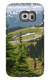Hurricane Ridge, Olympic National Park, Washington Galaxy S6 Edge Case by  Lantern Press