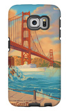 Golden Gate Bridge Sunset - 75th Anniversary - San Francisco, CA Galaxy S6 Edge Case by  Lantern Press