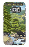 Leconte Creek and Mt. Leconte - Great Smoky Mountains National Park, TN Galaxy S6 Edge Case by  Lantern Press