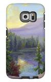 Mountain Lake at Sunrise Galaxy S6 Edge Case