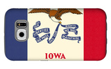 Iowa State Flag Galaxy S6 Case by  Lantern Press