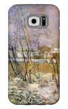 Snow in Rue Carcel Galaxy S6 Case by Paul Gauguin