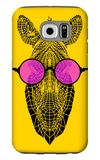 Zebra in Pink Glasses Galaxy S6 Case by Lisa Kroll
