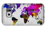 World Watercolor Map 13 Galaxy S6 Case by  NaxArt