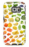 Collection Of Fruits And Vegetables Galaxy S6 Edge Case by  egal