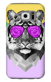 Party Tiger in Glasses Galaxy S6 Case by Lisa Kroll