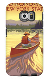 The Adirondacks, New York State - Canoe Scene Galaxy S6 Edge Case by  Lantern Press