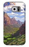 Zion National Park - Zion Canyon View Galaxy S6 Case by  Lantern Press
