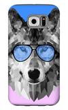 Woolf in Blue Glasses Galaxy S6 Case by Lisa Kroll