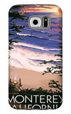Monterey, California - Sunset and Beach Galaxy S6 Case by  Lantern Press
