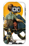 """Little Spooners"" or ""Sunset"", April 24,1926 Galaxy S6 Edge Case by Norman Rockwell"