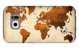 World  Map 7 Galaxy S6 Case by  NaxArt