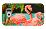 Hot Tropical Flamingo II Galaxy S6 Case by Linda Baliko