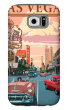 Las Vegas Old Strip Scene Galaxy S6 Case by  Lantern Press