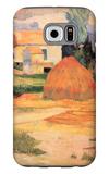 Farmhouses in Arles Galaxy S6 Case by Paul Gauguin
