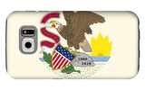 Illinois State Flag Galaxy S6 Case by  Lantern Press