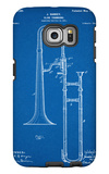 Slide Trombone Instrument Patent Galaxy S6 Edge Case