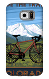 Mountain Bike - Colorado Galaxy S6 Case by  Lantern Press