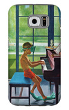 """Poolside Piano Practice,"" June 11, 1960 Galaxy S6 Case by George Hughes"
