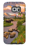 Moose and Meadow - Rocky Mountain National Park Galaxy S6 Edge Case by  Lantern Press