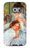 Young Mother Sewing Galaxy S6 Edge Case by Mary Cassatt