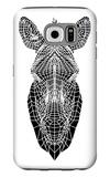 White Zebra Mesh Galaxy S6 Case by Lisa Kroll