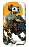 """Little Spooners"" or ""Sunset"", April 24,1926 Galaxy S6 Case by Norman Rockwell"